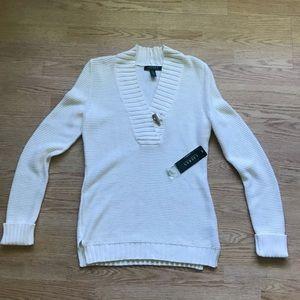 NWT Ralph Lauren Shawl Neck Sweater